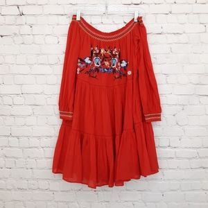 Free People Embroidered Boho Dress